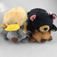 4 Pcs Lot Platypus Stuffed Animal Cartoon Koala Bear Wombat Plush Toys Cute Badger Dolls Children