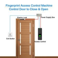 цена на Eseye Access Control Biometric Fingerprint Door Lock USB Keypad Reader Password ID Card Smart  Door Lock  For Home