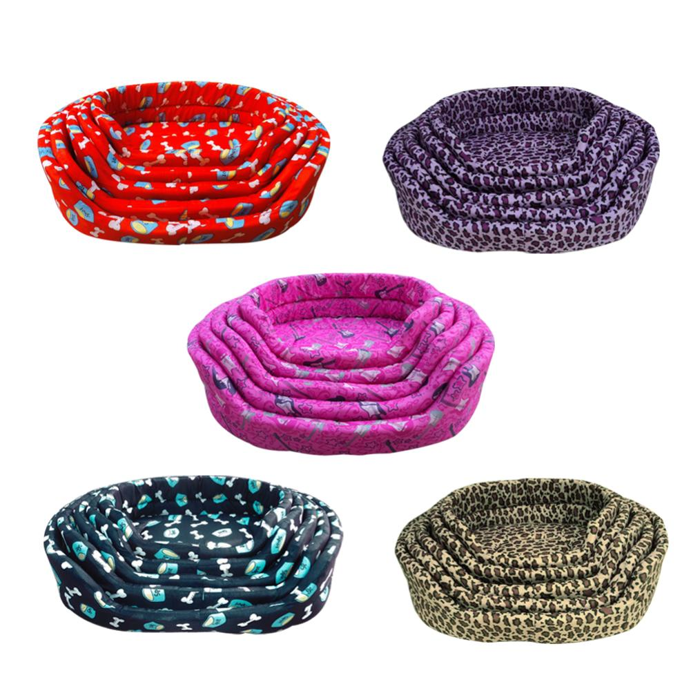 Hot Sales!Dog Bed Kennel Soft Dog Bone Mats Puppy Cat Bed Pet House Cozy Nest Small Dog Pad Winter Warm Pet Cushion Pet Products