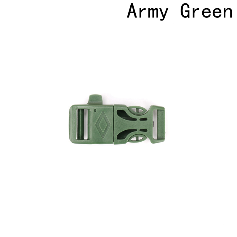 Paracord Emergency Contoured Survival Whistle Buckles Plastic Release Backpack Webbing