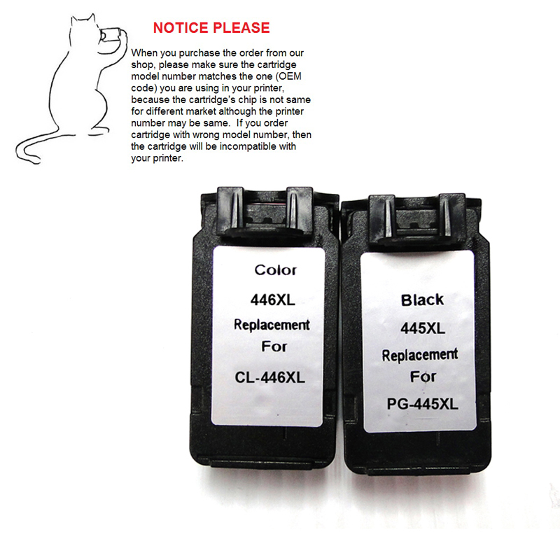 1set Remanufactured ink cartridge PG445 CL446 PG-445 CL-446 PG-445XL CL-446XL for Canon IP2840 MX494 MG2440 MG2540 MG2940 3x remanufactured ink cartridge pg245 cl246 pg 245 cl 246 xl for canon pixma mg2520 mg2920 ip2850 inkjet printer