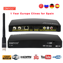 D4S PRO DVB-S2 Satellite Receiver Full HD 1080P TV Tuner satellite decoder Support H.265  Powervu Biss key 3G+USB WIFI Receptor цена и фото