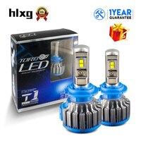HLXG 2PCS Turbo H7 LED Bulbs Car Headlight Kits 35W 7000LM Automobile Headlamp For Audi Honda