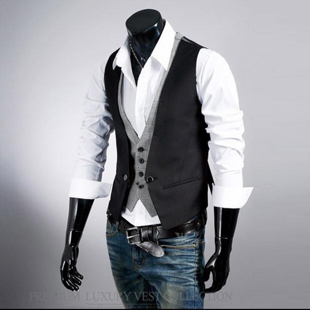 Aliexpress.com : Buy Mens Vests Suit 2017 Sleeveless Male ...