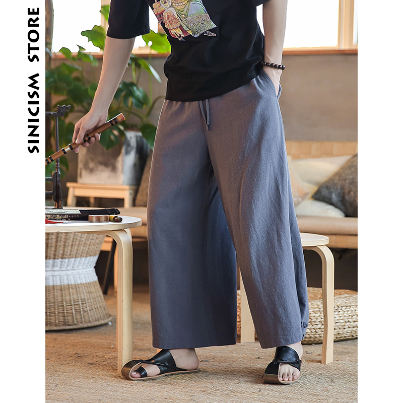 a740ac31bb Sinicism Store Harem Pants Men 2018 Mens Cotton And Lined Solid Joggers Male  Harajuku Loose Fashions High Quality Trousers Pant