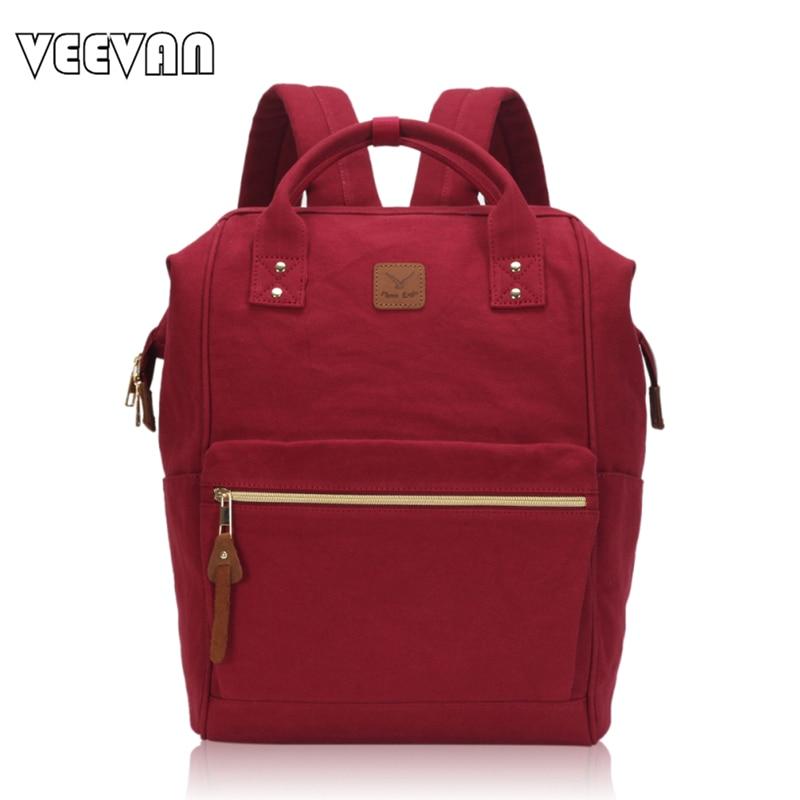 ФОТО VEEVANV 2017 Fashion Women Backpacks Female Canvas Backpacks for Girls School Shulder Bag Travel Bags Large Capacity Laptop Bags