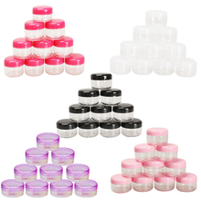 цены 10Pcs Mini Cosmetic Bead Empty Jar Pot Nail Art Lip Balm Container Eyeshadow Makeup Face Cream Round Bottle Container HG99