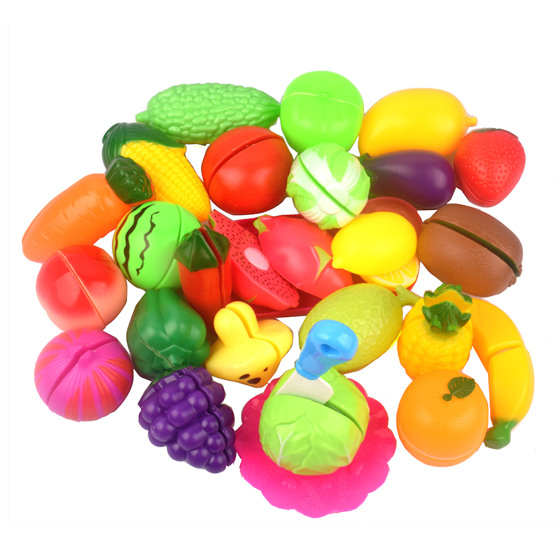 Fruit Vegetables Cutting Food Toy Plastic Pretend Play Kitchen House Education Development Set Toys For Kids Baby Children