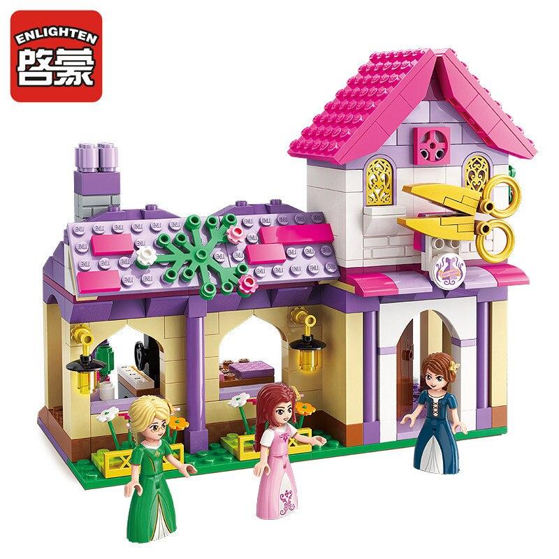 ILUMINAR 340 Pcs Conjuntos de Blocos de Construção Amigos Meninas Da Cidade Vestido de Destreza Casa Modelo Presente Crianças Tijolos Brinquedos Para As Crianças