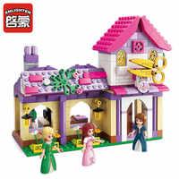 Iluminar 340 piezas amigos ciudad chicas Dexterity vestido bloques de construcción juegos casa modelo niños regalo ladrillos juguetes para niños