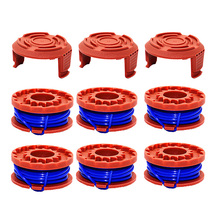 9 Pack Replacement Trimmer Spool Line 6Pcs & Cap Cover WA6531 GT 3Pcs for Worx WA0010