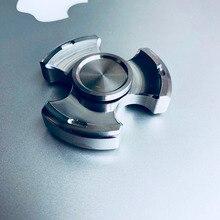 Final Sale Polished Stainless Steel Tri Fidget Spinner Quit Smoking Torqbar Finger Spinner EDC Toys Gyro