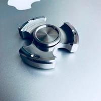 Retro Finger Spinner Stainless Steel Triangular Fidget Spinner Torqbar Brass EDC Toys Gyro Gyroscope Metal Focus