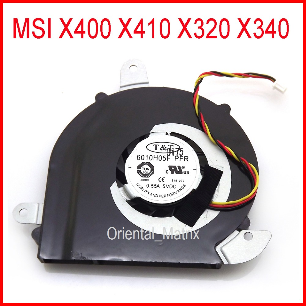 Free Shipping NEW 6010H05F PFR DC5V 0.55A 3Pin For <font><b>MSI</b></font> X320 X340 X400 X410 Laptop CPU Cooler Cooling Fan image