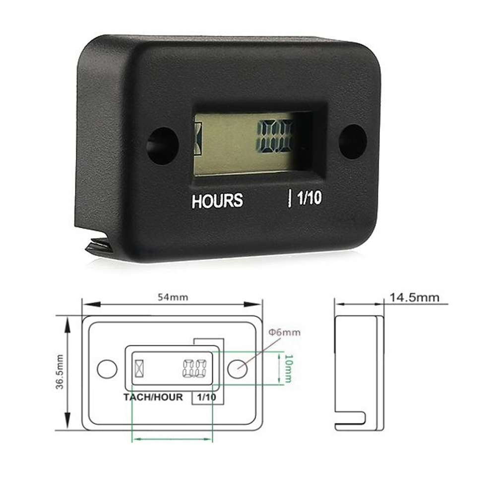 Image 4 - Hour Meter Motorcycle Gauge LCD Display Hour Meter for 4 Stroke Gas Engine Offroad Panel Hour ATV Motorcycle Generator Bike-in Instruments from Automobiles & Motorcycles