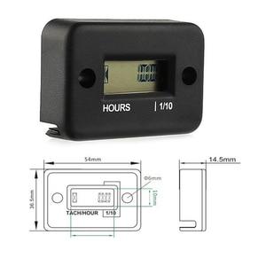 Image 4 - Portable Hour Meter Tachometer Hour Meter Counter Waterproof Engine Gauge For 4 Stroke Motorcycle ATV Snowmobile LCD Display