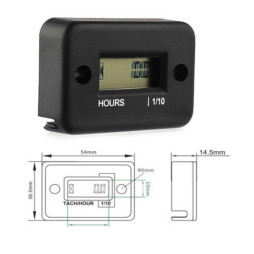 Tragbare Stunde Meter Tachometer Stunde Meter Zähler Wasserdichte Motor Gauge Für 4 Hub Motorrad ATV Schneemobil LCD Display