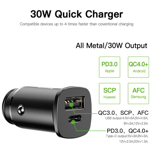 Quick Aluminum Alloy Car Charger