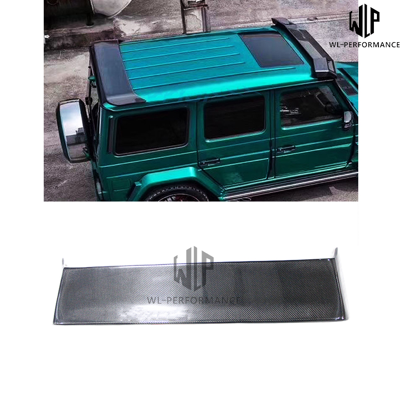 W463 Carbon Fiber Rear Spoiler Roof Wings Car Styling For Mercedes-Benz G Class G500 <font><b>G55</b></font> G65 <font><b>AMG</b></font> Style 2011-2015 image