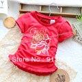 Лето дети одежда t - рубашки для девочки принцесса верхний футболки младенцы короткая длинными рукавами футболки