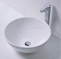 Бесплатная доставка Круглый Ванная комната твердый поверхностный камень счетчик Раковина чаша модный умывальник RS38170