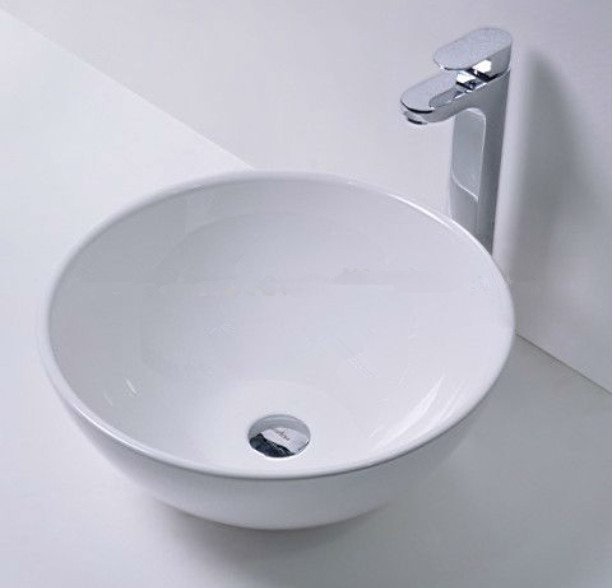 Free shipping Round bathroom solid surface stone counter top sink fashionable wash bowl RS38170