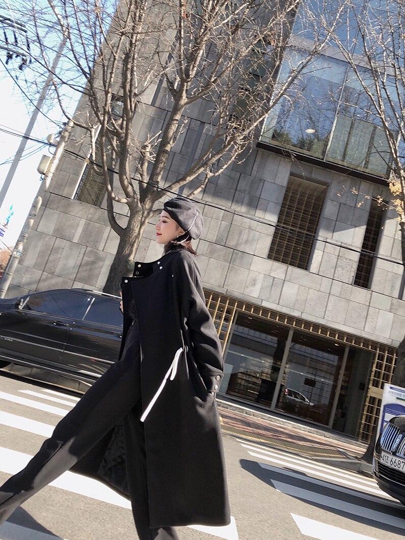 Femmes Femme Pardessus Tous Nouveau Getsring Lâche Les D'hiver Match Long Black Rembourré Manteaux Laine Femelle Coton Épaissie De Dames HFdWfWS