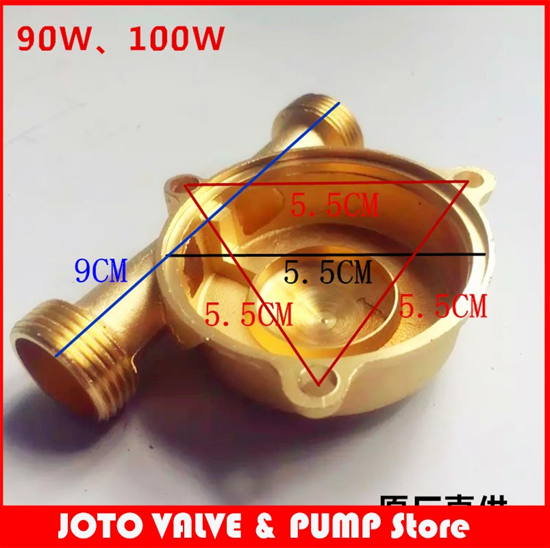 Stainless Steel Booster Pump Copper Pump Head 90W 100W 120W 150W Water Pump Accessories And Copper Impeller
