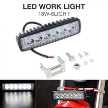 18 Вт 1000LM яркий свет пятно 6 светодио дный автомобильный рабочий бар вождения Туман Offroad свет водостойкая автоматическая лампа для грузовика/мотоцикла/автомобиля/лодки