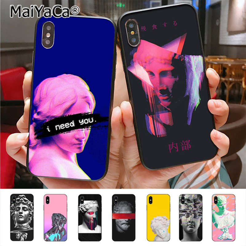 Cellphones & Telecommunications United Retro Vintage Art Cartoon Case For Iphone X 5 5s Se 6 6s Plus 7 8 Plus Xs Max Xr Soft Silicone Capa Statue Virgin Maria Cover