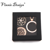 Vinnie Design Jewelry My Coin Gift Box Set With 2pcs 33mm Coin 1pcs 35mm Double Crystal