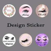 Customize Logo Professional Design Servie for Circle Stickers for Eyelash Store or Salon or School or Lashes Business