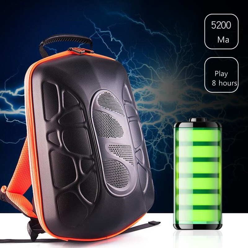 Wireless Usb  Charging Bluetooth Speaker Anti Theft Bicycle  Bicycle Sound Waterproof Portable Card Subwoofer  Backpack