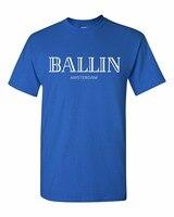 Mode Hommes O-cou de Ballin Amsterdam Graphique Unisexe T-shirt Impression Hommes À Manches Courtes T Chemise Fraîche T-shirt livraison gratuite
