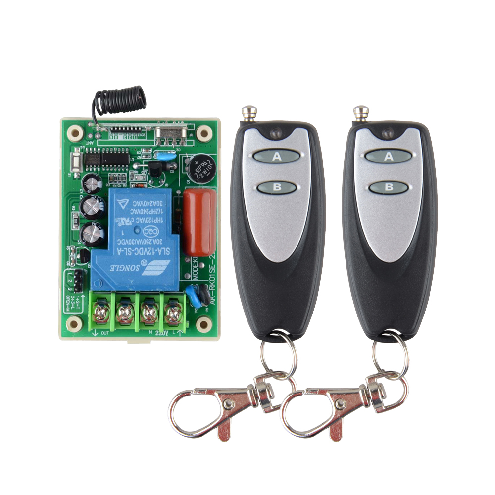 433.92 Radio Transceiver RF Wireless Remote Control Switch System 220V 30A light/Lamp LED water pump electrical machine ON OF 2pcs receiver transmitters with 2 dual button remote control wireless remote control switch led light lamp remote on off system