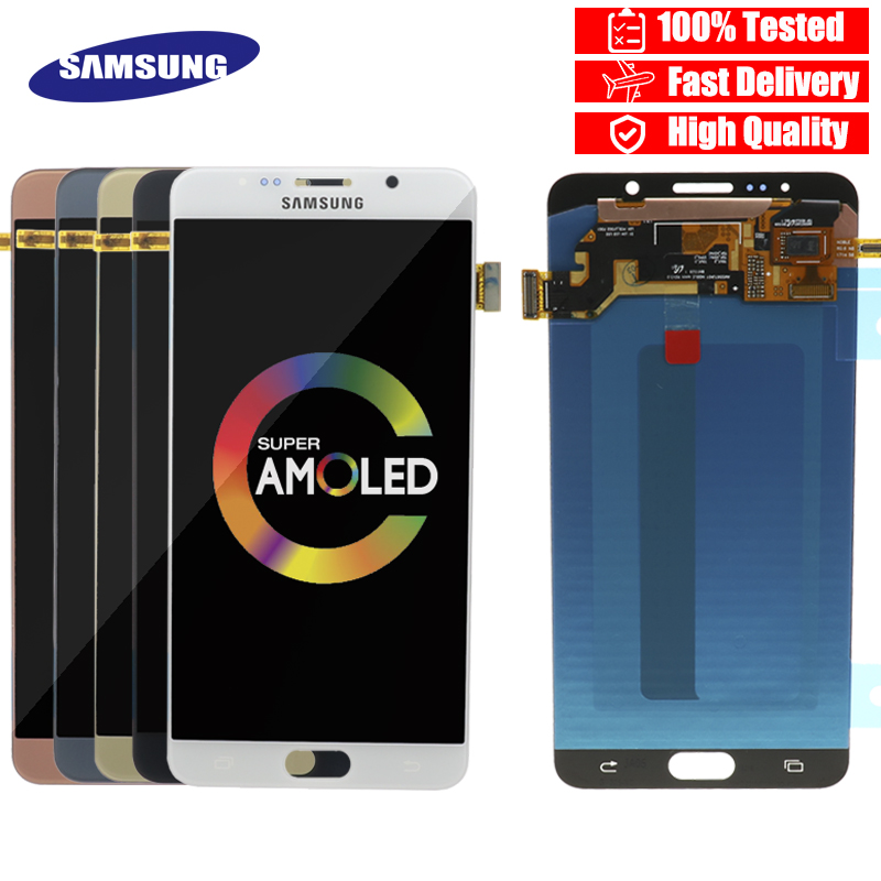5 7 100 ORIGINAL LCD for SAMSUNG Galaxy Note 5 Display LCD Touch Screen for SAMSUNG