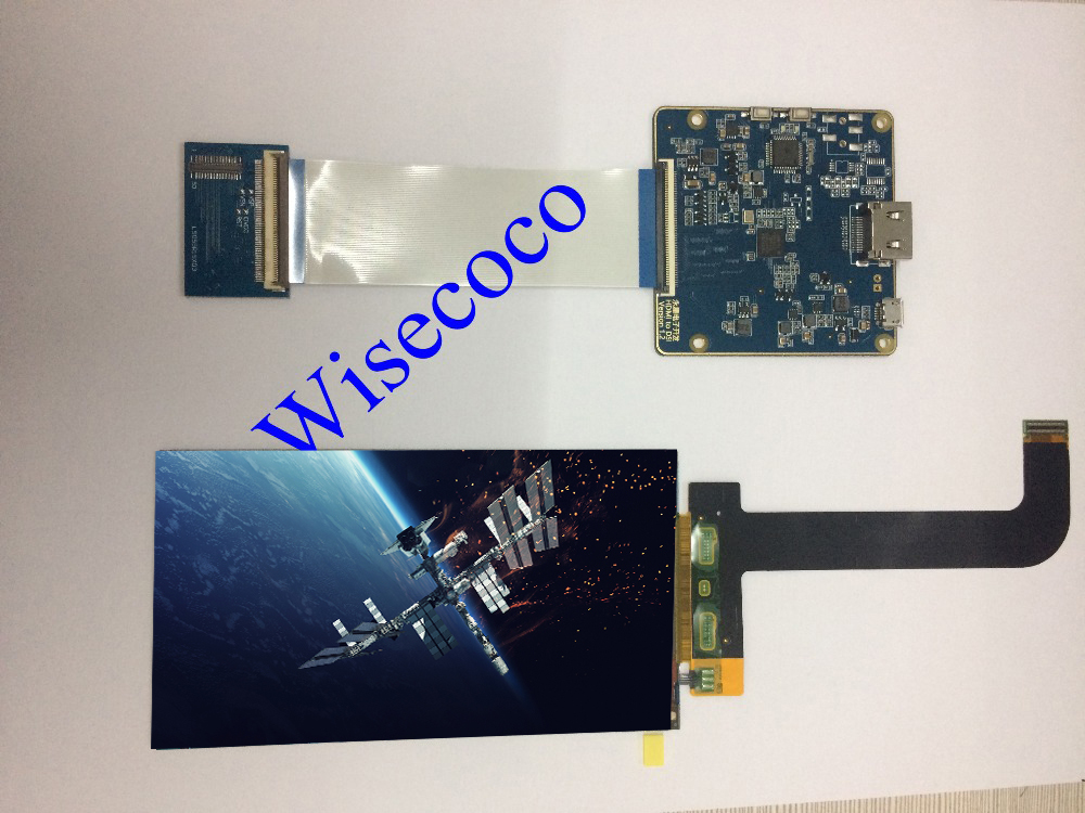 5.5 inch LCD screen display with HDMI top MIPI controller board for 3D printer Duplicator 7 LCD for Raspberry Pi 3