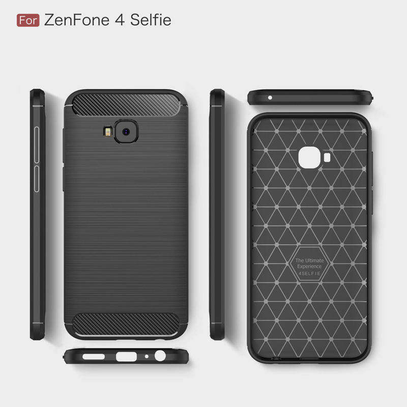 meet ea772 c008d US $5.49 |Brushed TPU for Coque ZenFone 4 Selfie Case Asus 4 Selfie Back  cover Armor Silicon Soft case for Asus ZenFone4 Selfie-in Half-wrapped Case  ...