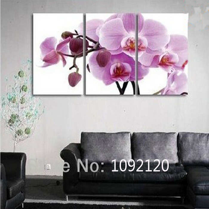 Hand Painted Paintings Butterfly Orchid Picture On Canvas
