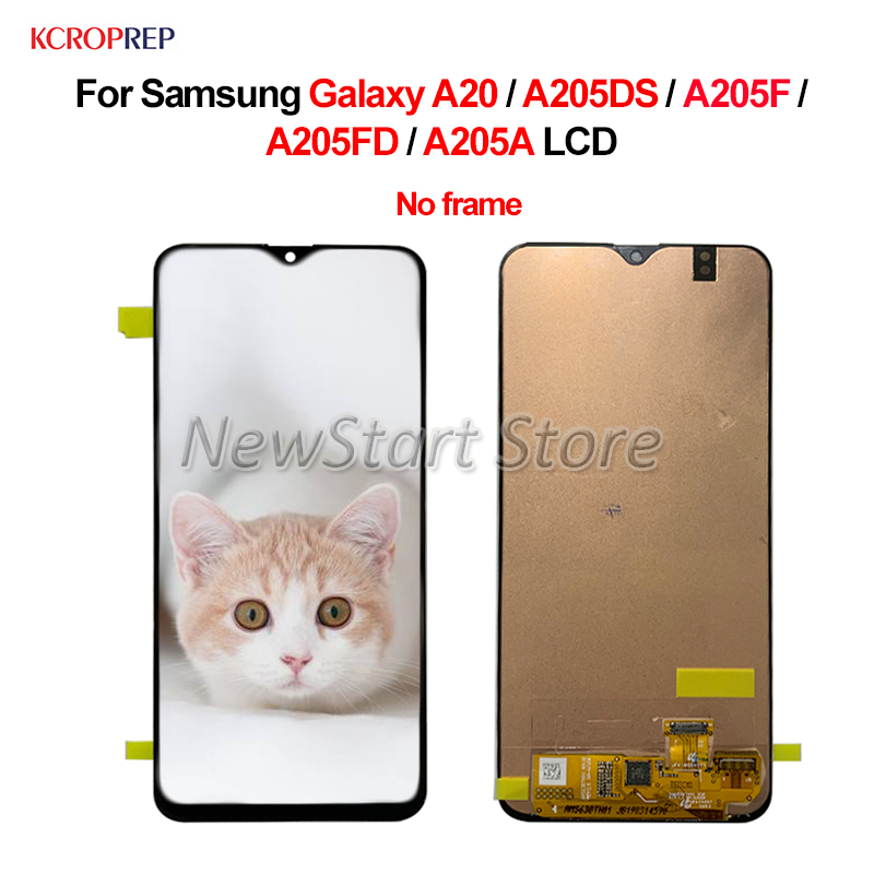 For Samsung Galaxy A20 LCD Display Touch Screen Digitizer Assembly 6.4 For Samsung A20 A205DS A205F A205FD A205A lcd No FrameFor Samsung Galaxy A20 LCD Display Touch Screen Digitizer Assembly 6.4 For Samsung A20 A205DS A205F A205FD A205A lcd No Frame