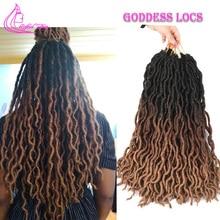 Рафинированный Уход за волосами эффектом деграде(переход от темного к богиня искусственные локоны в стиле Crochet волосы 18 дюймов Длинные Синтетические волосы мягкие, на крючках, косички, Бургунди, коричневый, белый, светлые волосы в косичках