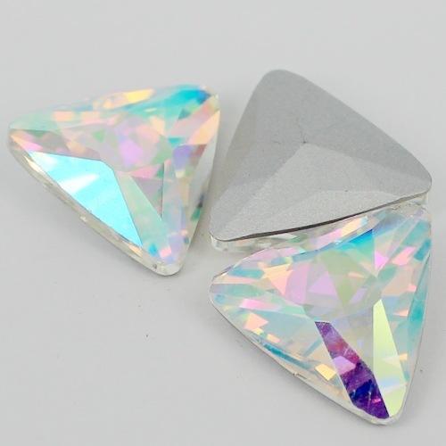 Cristal AB Forma de Triángulo de Cristal Fancy Stone Point Volver Cristal de Piedra Para La Joyería de DIY Accessory.12mm 18mm 23mm