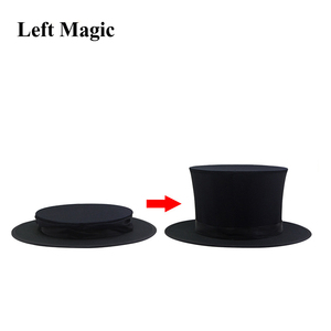 Image 3 - Folding Top Hat Spring Magic Tricks ( Black &  Playing Card Pattern )Appearing/Vanishing Objects Hat Stage Accessories Gimmick