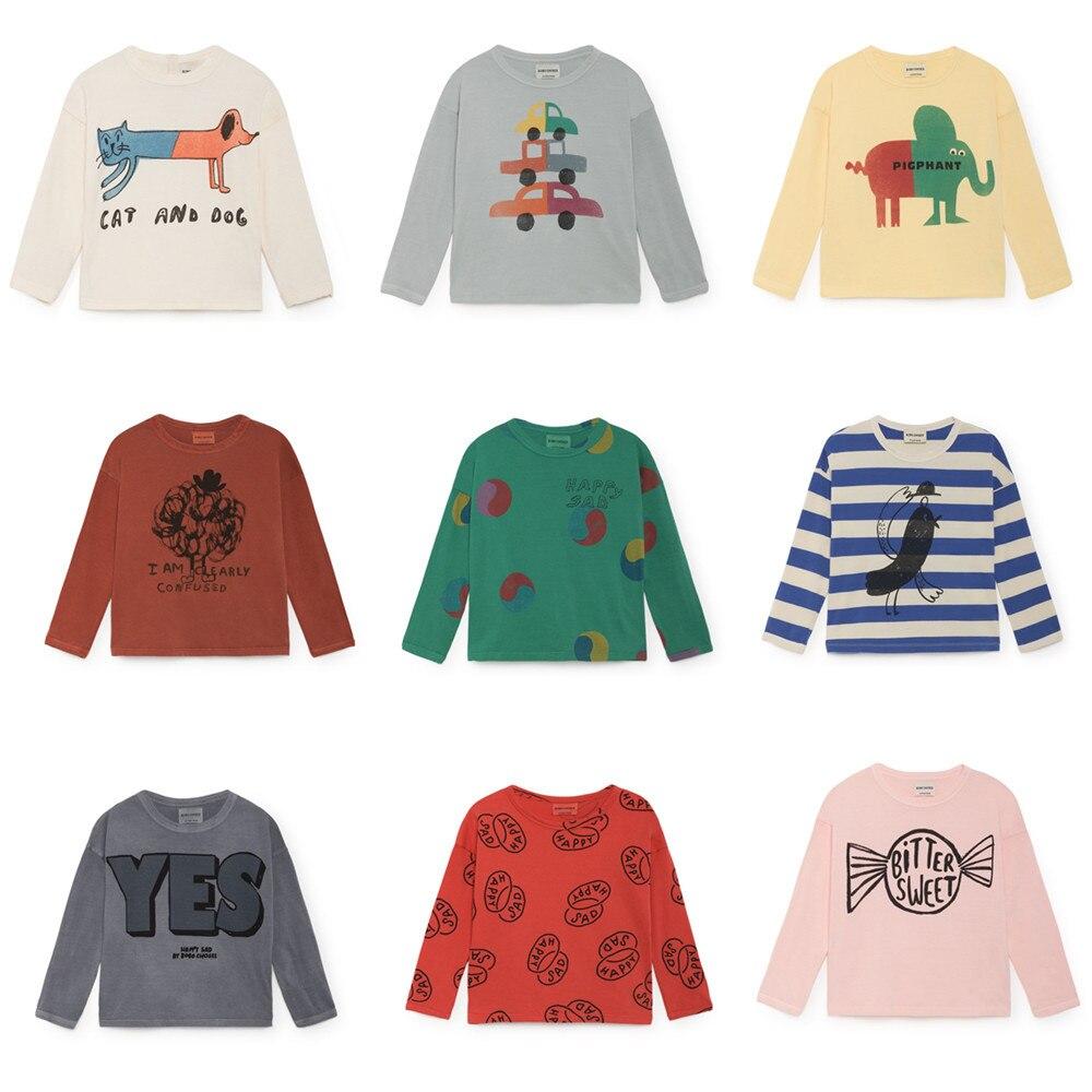 Bobo Choses Kinder T-shirt 2018 Herbst Sweatshirts Langarm Nette Muster T-shirts Baby Jungen Mädchen Kleidung Sport Top Tees