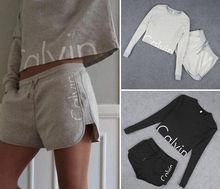 Женской носить толстовка спортивный толстовки случайный наборы дамы одежды шорты набор
