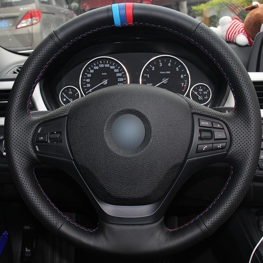 Black Natural Leather Light Blue Blue Red Marker Car