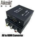 Aikexin AV to HDMI Converter Composite 3RCA CVBS to HDMI Converter Box AV2HDMI Adapter Support 720P/1080P for TV/PC/PS3