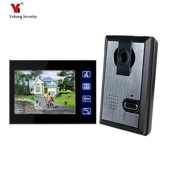 Yobang Security Freeship 7inch Video Doorphone Touch Keypad Night Vision Home  Doorbell Visual Door Ring Door Video Intercom