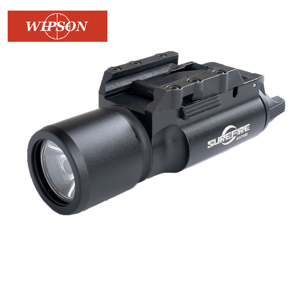 WIPSON Tactical X300 Flashlight Waterproof Weapon Light Pistol Gun Lanterna Rifle Picatinny Weaver Mount For Hunting