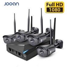 JOOAN كاميرا أمان لاسلكية نظام 4CH CCTV NVR 1080P كاميرا أمان لاسلكية مجموعة في الهواء الطلق IP كاميرا طقم مراقبة الفيديو